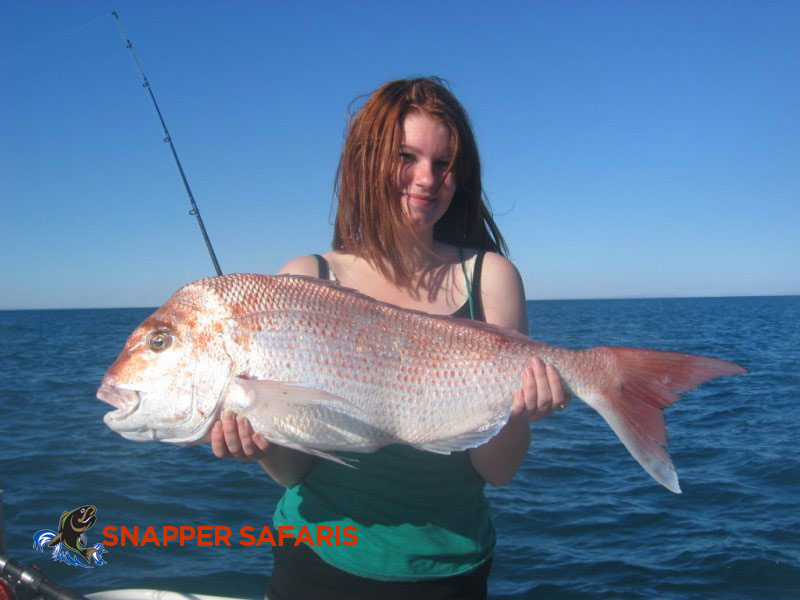 Bri catches a beautifully sized snapper