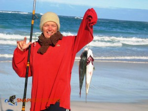 Catch Salmon on the beach at Fowlers Bay