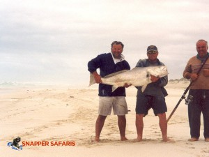 Catch huge Mulloway on the shore at Fowlers Bay