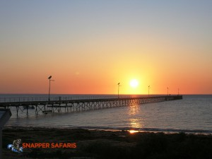 Sunset at Fowlers Bay with the jetty in the foreground