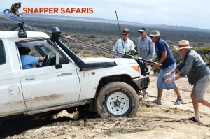 Some people power to help the 4WD through a soft patch